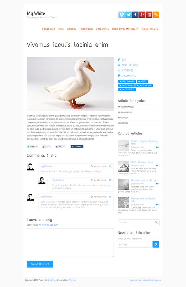 My White Free WordPress Theme