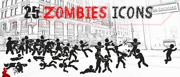 zombies zombie Icon walking dead
