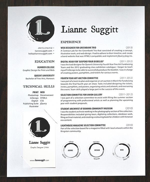 innovative resume lianne suggitt on behance