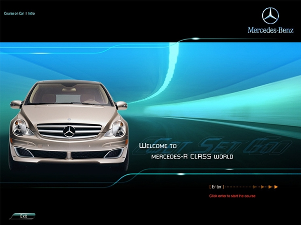 mercedes benz cbt wbt e learning on behance