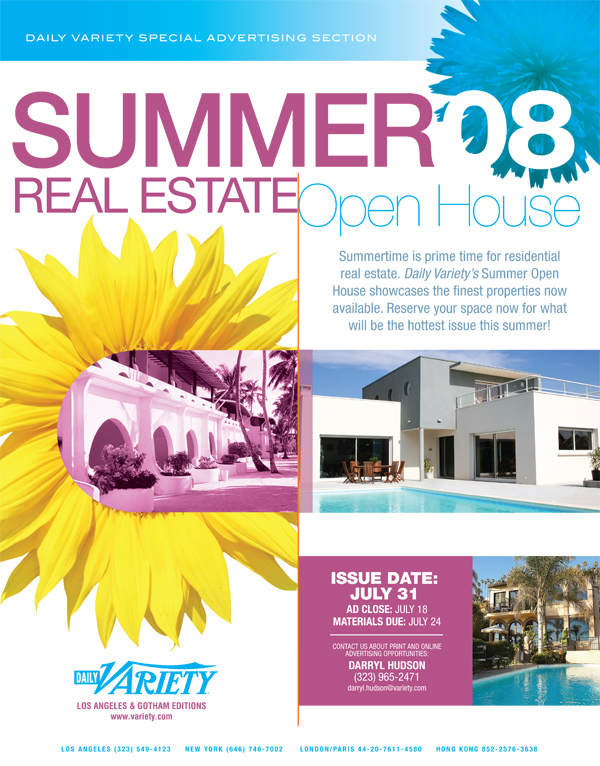 Variety summer and fall real estate open house ad on behance for Ad house