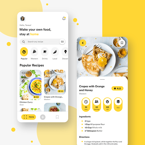 Mobile App - Food Recipe Application