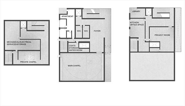 Cambridge interfaith chapel on behance for Small chapel floor plans