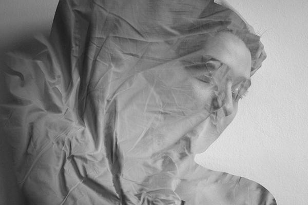 Unconscious body movements dream portrait Black&white