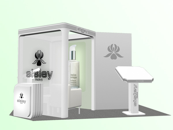 3d Exhibition Designer Jobs In Singapore : Sisley skincare retail promo on behance