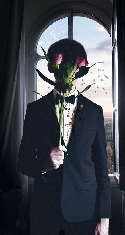 figure Flowers Formal horror tuxedo Window