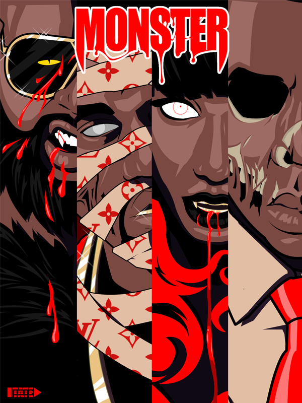 """""""MONSTER"""" Art Collection inspired by Kanye West on Behance"""