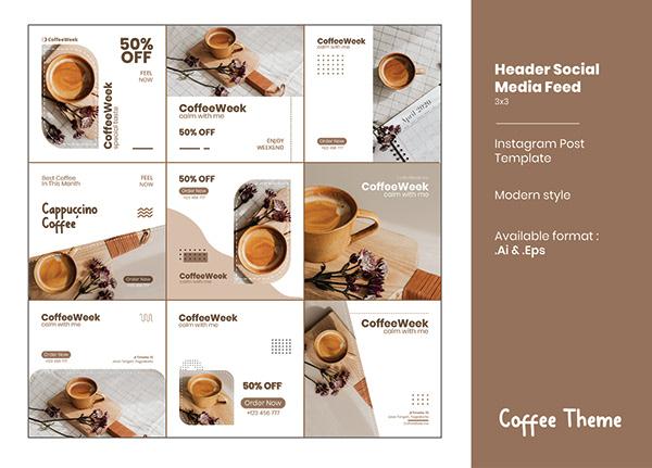 Coffee Theme - Social Media Feed v2