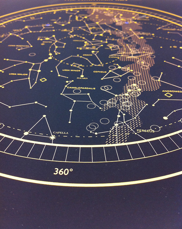 Celestial maps on student show for Outer space design melbourne