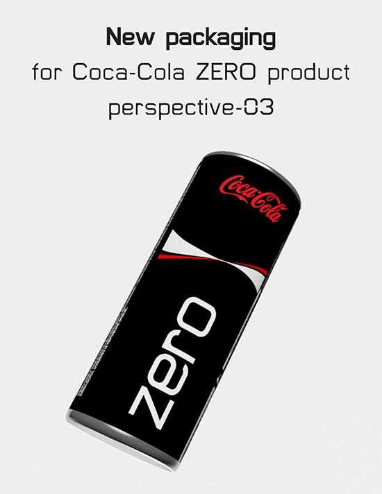 coca cola coke zero new re-brand design Slim sleek can