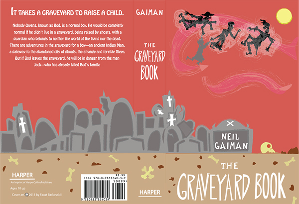 The Graveyard Book Cover Art ~ The graveyard book cover on behance