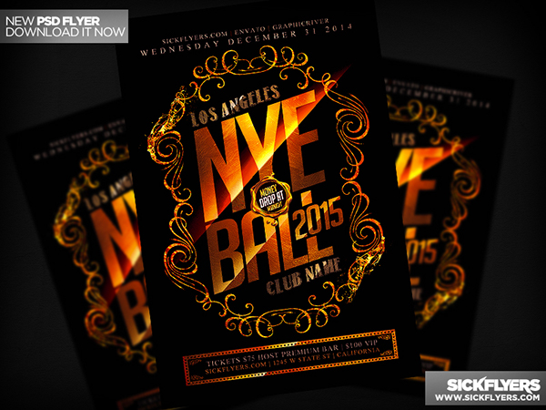 New Years Eve Flyer PSD on Behance