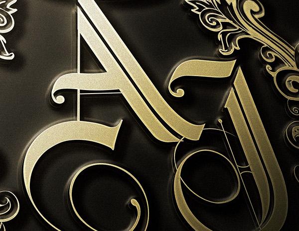 Arvin And Joyce Wedding Decorative Logo On Behance