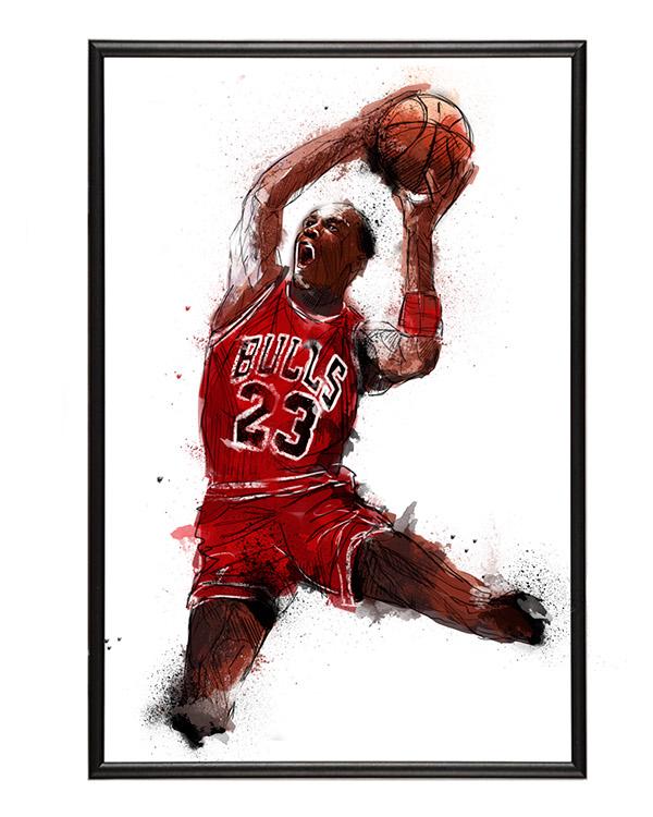 Michael Jordan art NBA sports