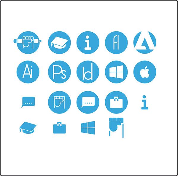 self design resume icons on behance