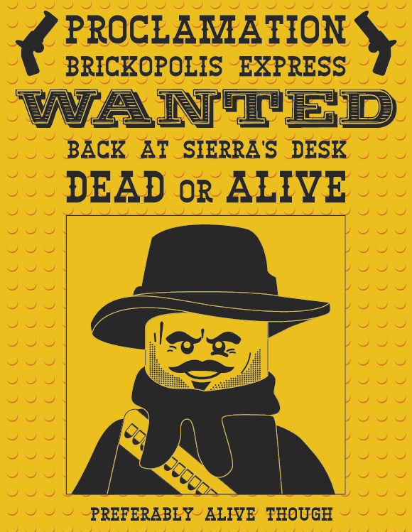 Lego Wanted Poster on Behance
