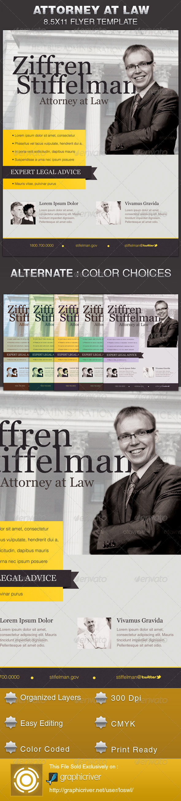 attorney at law flyer template on behance
