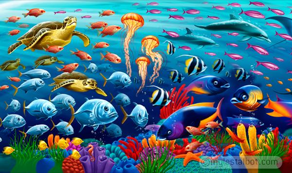 Underwater Cora... Underwater Fish Scene