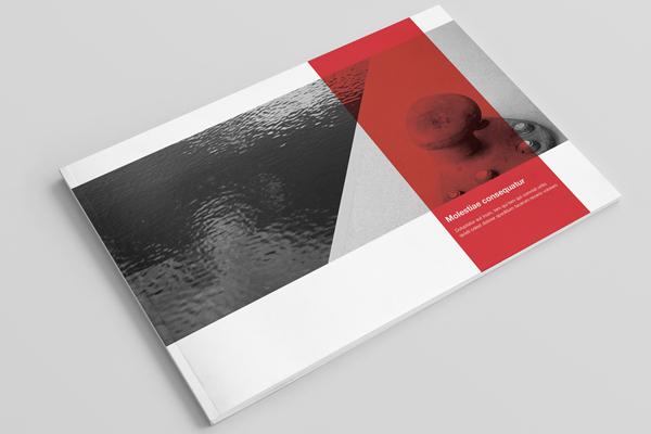 Landscape Book Cover Design ~ Landscape brochure booklet catalog mock up on behance