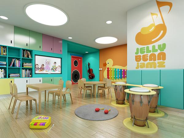 Music Classroom Design : Nanjing space preschool and kindergarten design on behance