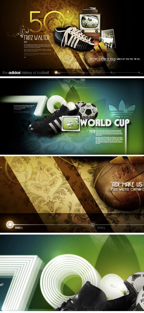 Adidas (Concept) _ Football timeline on Behance