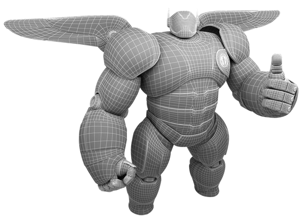 Donwload Baymax Inflate 3d Model Free