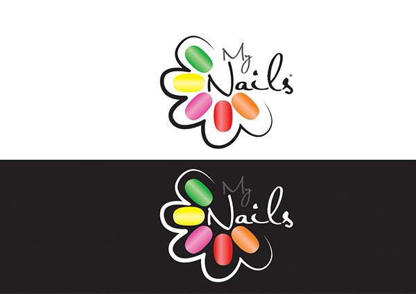 Design logo nail design logo creative logo samples and designs design logo nail design logo my nails logo u0026 branding on behance prinsesfo Choice Image