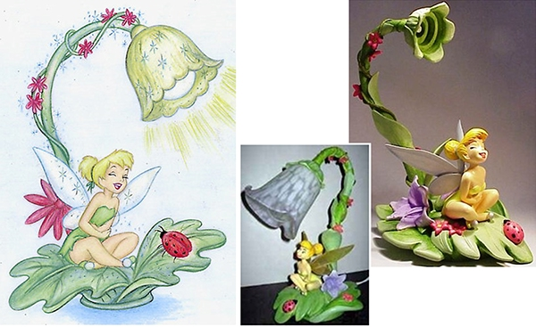 Charming Tinker Bell Lamp Product Design