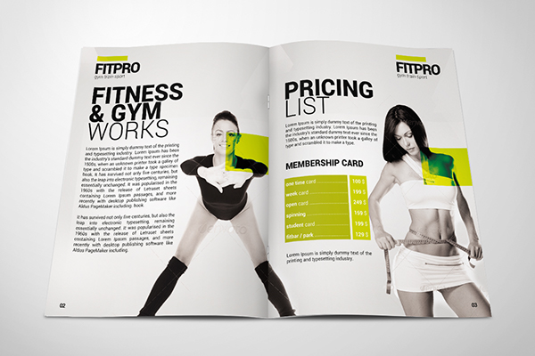 Fitness Gym Brochure On Behance