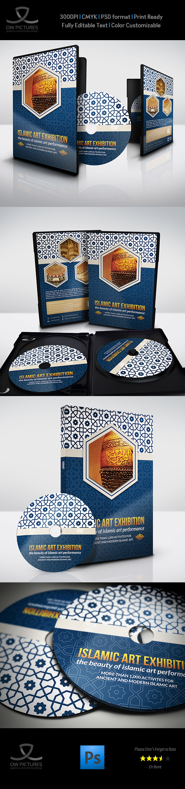 Dvd Cover Template | Owpictures Islamic Art Exhibition Dvd Cover And Label Template