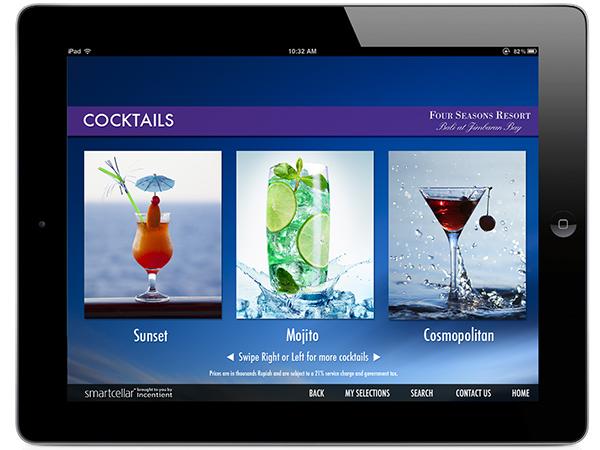Four season bali new beach restaurant ipad menu app on