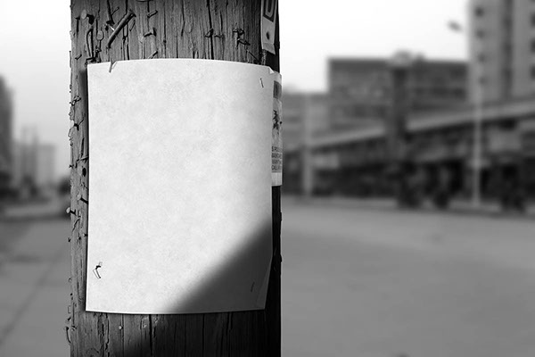 utility pole flyer    poster