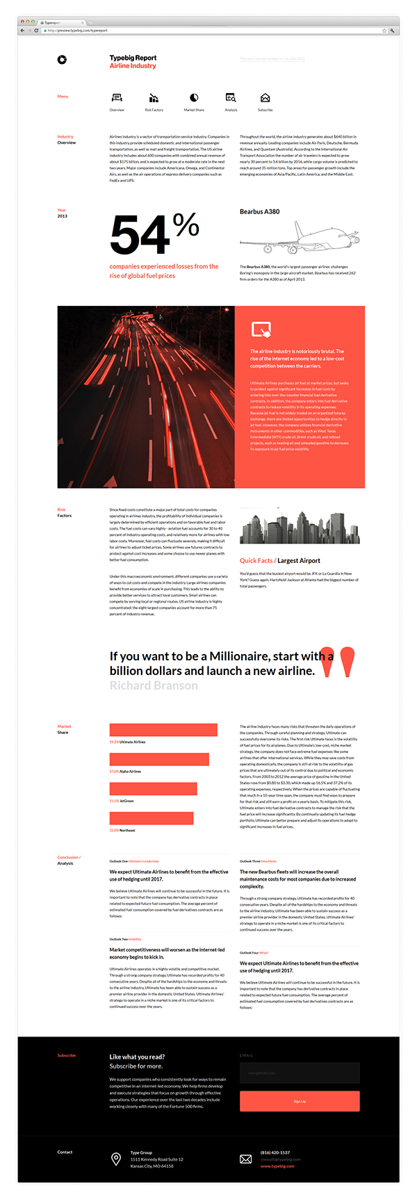 type report free html template on behance