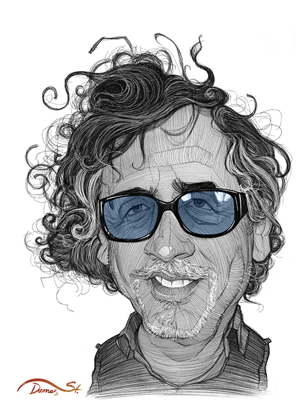 burton director Cinema movie sketch artistic digital editorial portrait face