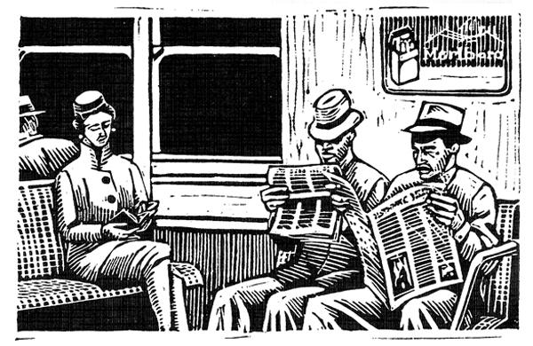 Subway commuters