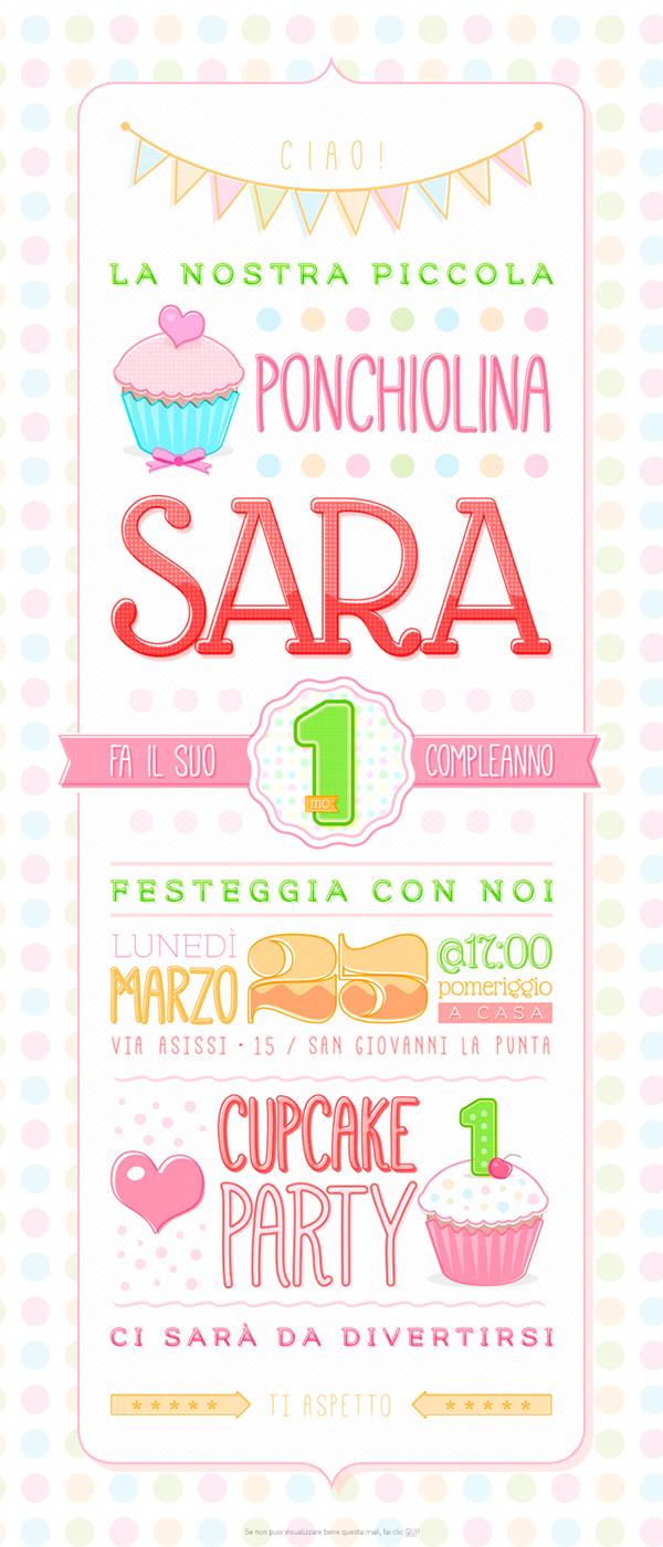 Sara 1st / Cupcake Party on Behance