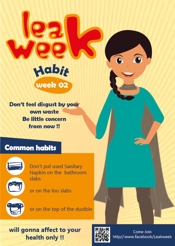 Classroom Design University ~ Leak week safe discard of used sanitary napkins on behance