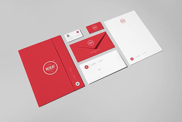 a4 briefcase business card corporate identity envelope folder letterhead mock up mock-up Mockup paper Varnish brand