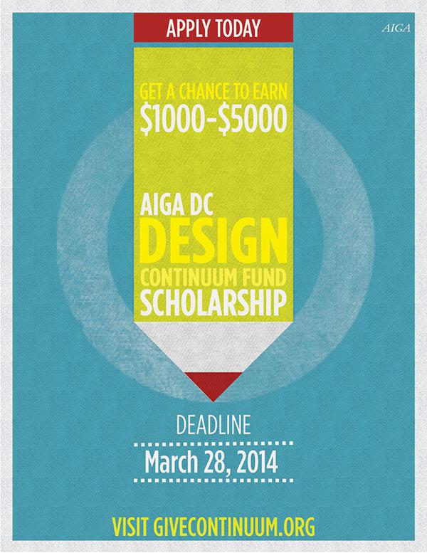 AIGA DC Design Continuum Scholarship Poster on Behance