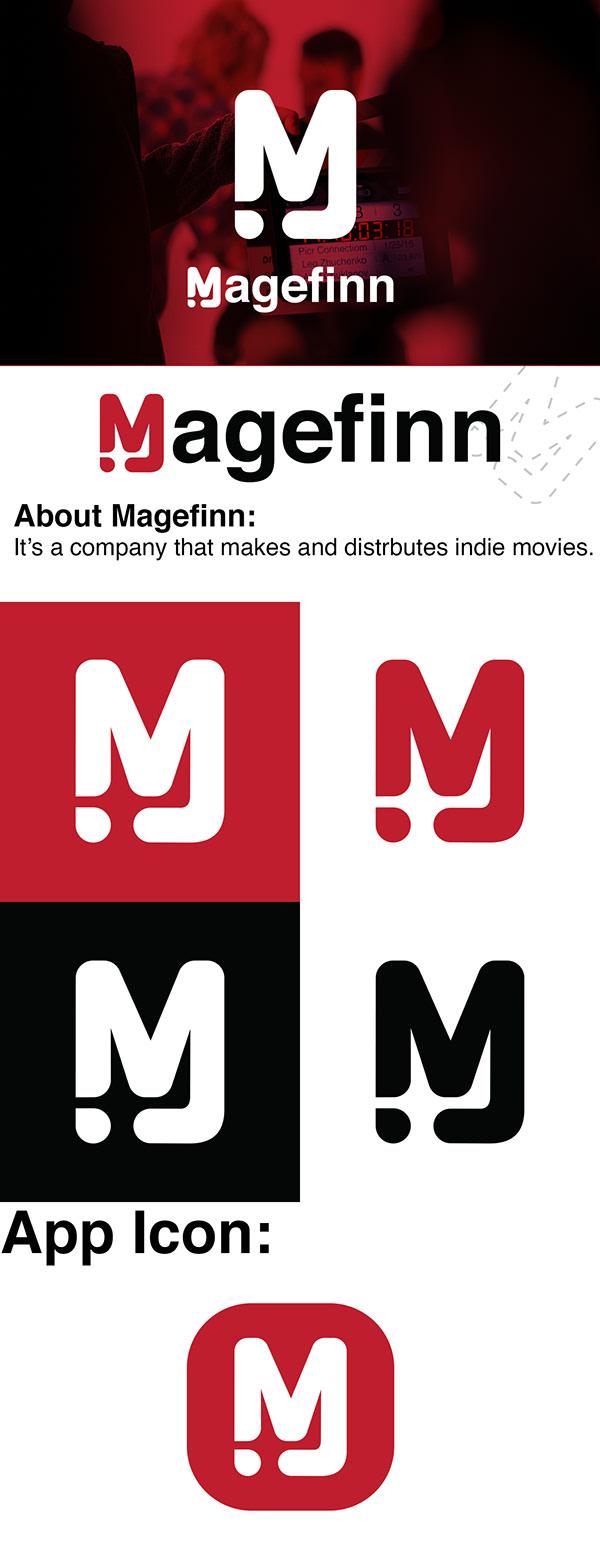 """Magefinn"" movie company logo design"