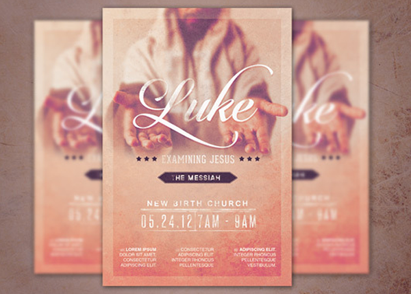 Examining Jesus Church Flyer Template On Behance