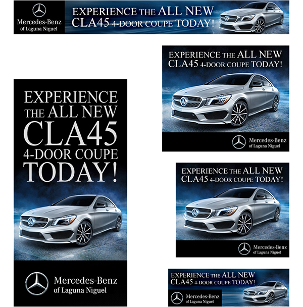 ... Mercedes Benz, I Fleshed Out An Entire Set Of Ads In The Most Popular  Google Ad Sizes: 728x90 Leaderboard, 300x600 Half Page, 336x280 Large  Rectangle, ...