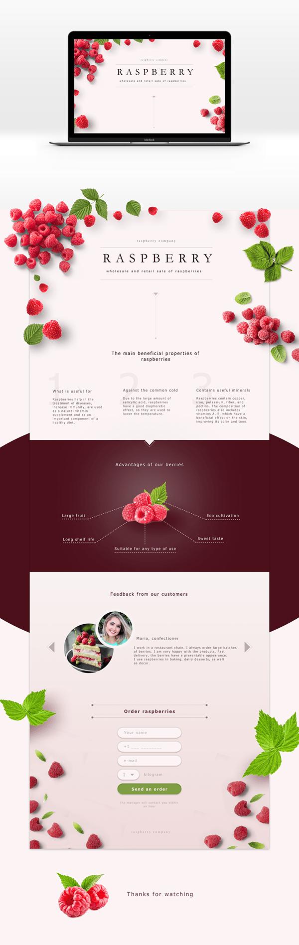 Landing page Raspberry