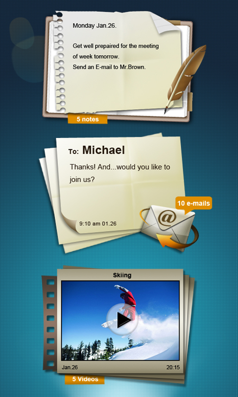 Icon widget timeline android