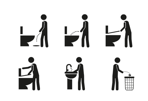 pictograms for bathrooms on behance