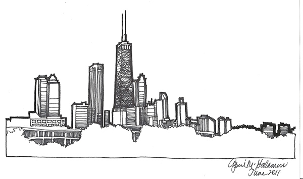 Chicago Skyline Drawings The Chicago Skyline That i