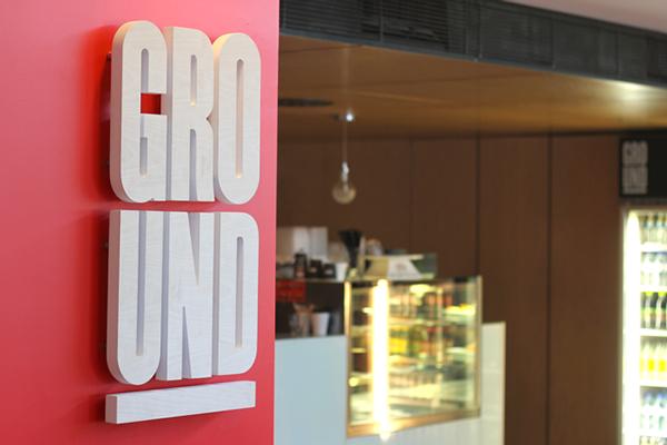 ground  Cafe Design Rebrand environmental design