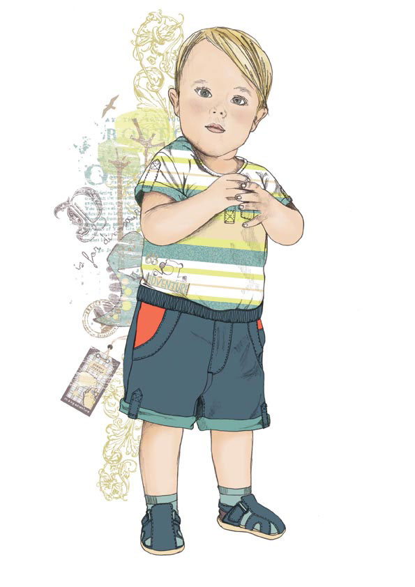 Fashion Illustration // Kids and Baby on Behance