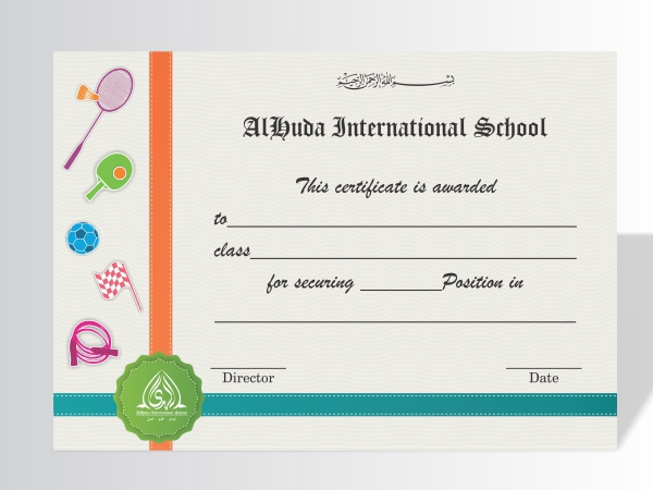 Certificates: Achievement in Sports on Behance