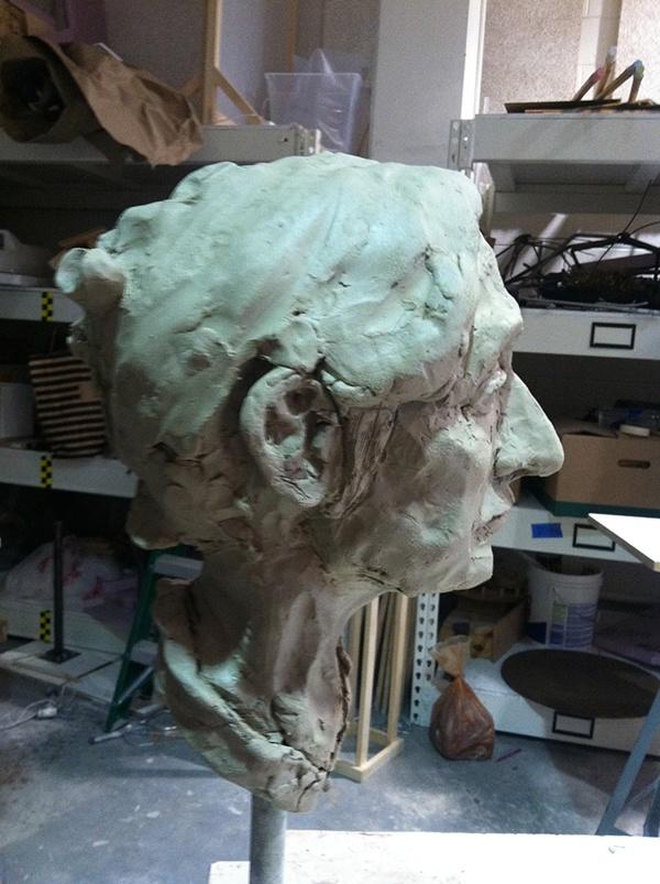 Sculpt,sculpture,clay,bust